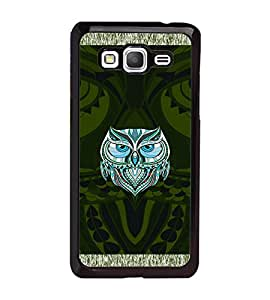 Samsung Galaxy Grand Prime 4G, Fuson Premium Artistic Owl Designer Metal Printed with Hard Plastic Back Case Cover