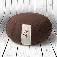 Preisvergleich für Rundkissen für Yoga mit Sicherheits-Klettverschluss, für Füllung mit Bio-Dinkelspelz, ideales Kissen für Yoga / Meditation. Material: 100% Baumwolle, weiche Haptik.