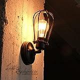 Retro Wandleuchte Vintage Beverley Wandlampe Edison Steam Punk Loft Leuchte