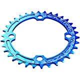 RaceFace Single Narrow Wide - Transmisión para bicicletas, Azul, dimensiones 104 x 36 mm