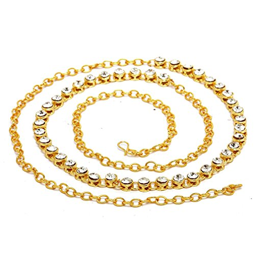 Kamar Bandh Gold Plated kundan Belly Hips Chain kamarbandh For Women  available at amazon for Rs.249