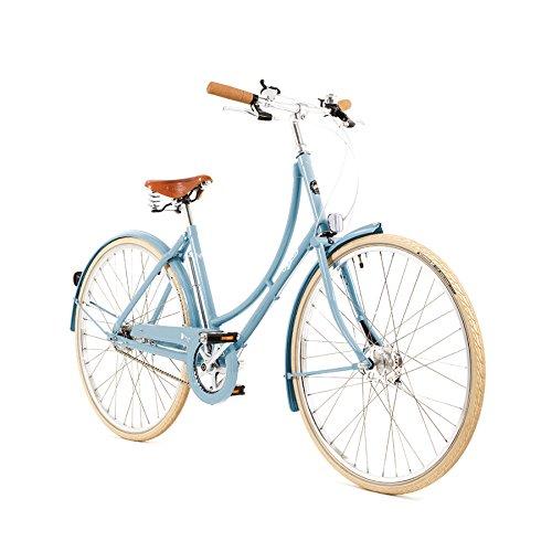 Pashley Poppy Damenrad - Elegante Sachlichkeit - leichtes und beschwingtes Radfahren - frische Farben - 3-Gang-Nabenschaltung, Rahmen 22'', Hellblau chic - leicht - bequem