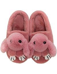 Primavera Zapatillas Preciosas Conejo Interior Felpa Zapatos Femeninos básicos Totem Piel de Dibujos Animados Pisos