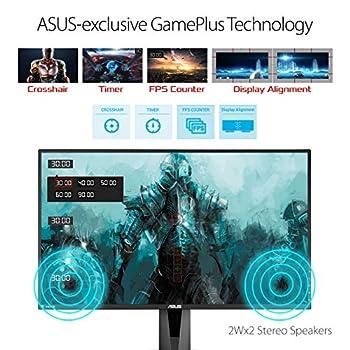 ASUS VG278Q 27'' FHD (1920 x 1080) Esports Gaming Monitor, 1 ms, 144 Hz, DP, HDMI, DVI, FreeSync, Compatibile G-Sync, Filtro Luce Blu, Flicker Free, Certificazione TUV