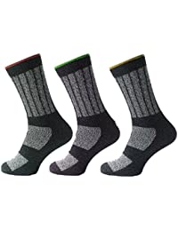 3 Pairs Mens Kato Work Boot Socks Hard Wearing Warm Cushioned Support