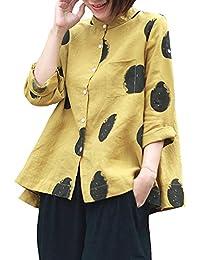 f9addf59009f VJGOAL Femmes Blanc Plus Grande Taille Haut Chemisier Chic Femme Long  Bouton De Poche Pochette Casual