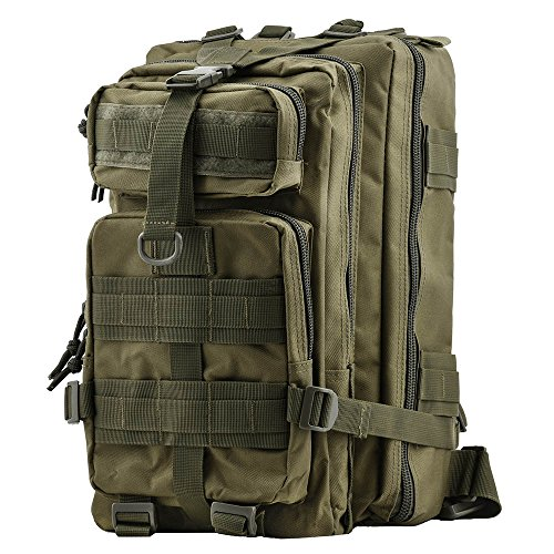 TOPQSC Military Tactical Rucksack, Modische 30L mehrere Farben Wandern Bergsteigen Biking Outdoor Military Tactical Rucksack Trekking Tasche für Reisen Wandern mit Top Qualität Militär - Grün