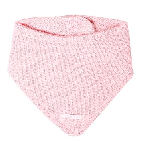 maximo Baby - Mädchen Halstuch Dreiecktuch Mit Klett, Einfarbig, Gr. One Size, Rosa (Zartrosa 30)