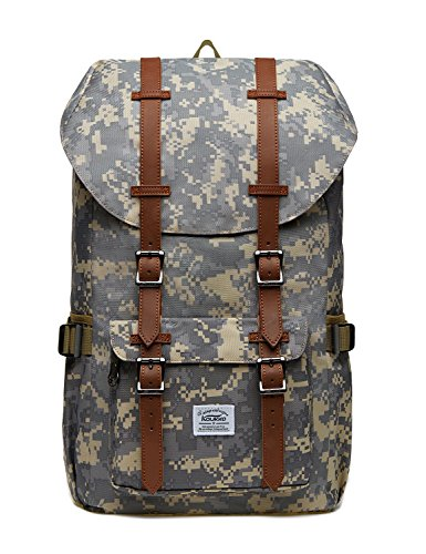 Sac à Dos Pour Ordinateur Portable Décontractée Unisexe Sac Extérieur Pour Voyager / Randonnée / Camping Par KAUKKO (Camouflage)