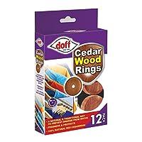 Doff Pack x12 Cedar Wood Rings 100% Natural Moth Repellent Fits Clothes Hangers!
