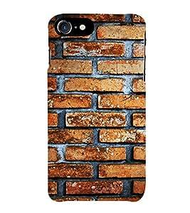 HiFi Designer Phone Back Case Cover Apple iPhone 7 :: Apple iPhone7 ( Wall Brick Design Pattern )