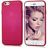 """iPhone 6 Plus/6S Plus Funda, BADALink Carcasa original para iPhone 6 Plus/6S Plus 5.5"""" Protective Case Cover (Esmerilado Brillo, Suave Flexible TPU silicona, ultrafina Slim Fit), Rosa Rojo"""