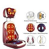 ZQG BEAUTY Elektrische Heizung Knetstuhl Infrarot-Physiotherapie Nackenmassage Relax Sitzkissen-Vibrator entspannen Muskel