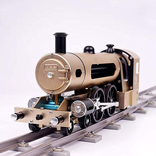 TOSUAI Dampfzugmodell, DIY-Metallmontagemodell, Mechanisches Spielzeug Für Erwachsene, Schwierige Montage (Puzzle Dampfmaschine)