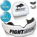 Fight Mode Mundschutz Weiss + Gratis Hygiene-Box + Gratis eBook | Zahnschutz Anpassbar, für Erwachsene | die Beste Wahl Beim Kampfsport, Boxen, Kickboxen, MMA, Krav Maga, American Football