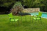 Garden Life 8306AL-05 Sillón apilable, Verde (limón), 46x54x86 cm