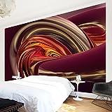 Apalis Vliestapete Fantastic Burning Fototapete Breit | Vlies Tapete Wandtapete Wandbild Foto 3D Fototapete für Schlafzimmer Wohnzimmer Küche | rot, 94633