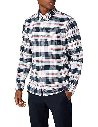 Levi's Sunset 1 Pocket Shirt Camisa, Multicolor (Swift Marshmallow 0351), Medium para Hombre