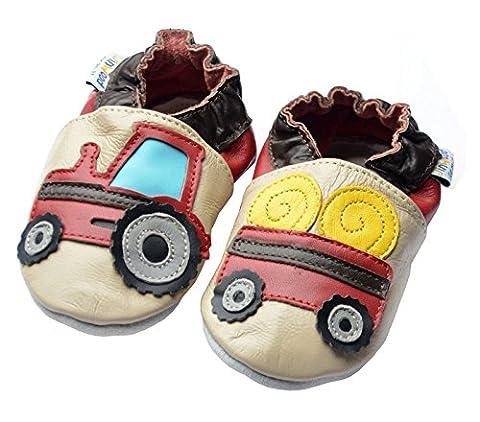 Jinwood designed by amsomo - TRACTOR & TRAILER BEIGE - mini shoes , EU 20/21 (Geschlossenen Trailer)