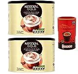 Nescafe Gold Unsweetened Cappuccino 2 x 1kg & 250g Cadbury...