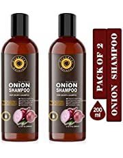 GrandeurPACK OF 2 Onion Shampoo For Hair Growth With Aloeve