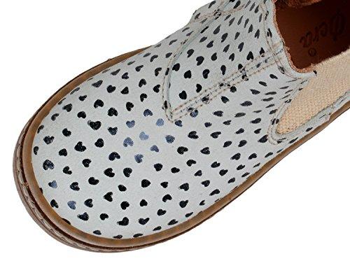 Ocra 494V fille boots avec motif cœur Gris - Hellgrau (81741 paradais nero-blu)
