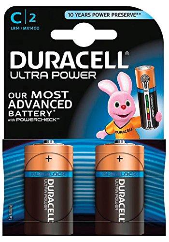 Square-batterie (Duracell Ultra Power Typ C Alkaline Batterien, 2er Pack)