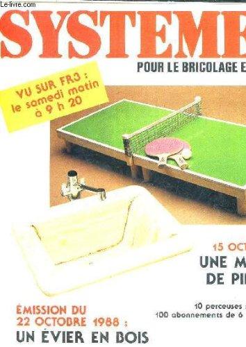 SYSTEME D POUR LE BRICOLAGE ET LA MAISON - LES BRICO CONSEILS - UNE MINI TABLE PING PONG - UN EVIER EN BOIS. Bosch-mini-systeme