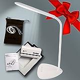 Geschenk-Set Tageslichtlampe mit Sleep-Timer Funktion, dimmbare kabellose LED Schreibtischlampe, Arbeitsleuchte (3500-6500K) + passende Powerbank / Externer Akku 5200mAh