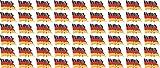 Mini Aufkleber Set - Pack wehend - 20x12mm - selbstklebender Sticker - Fahne - Germany - Deutschland - Flagge / Banner / Standarte fürs Auto, Büro, zu Hause und die Schule - 54 Stück