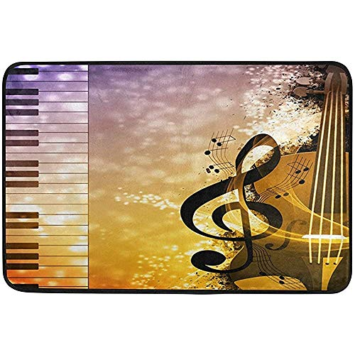 XV Global Tapete,Abstract Music Note Piano Key Felpudo