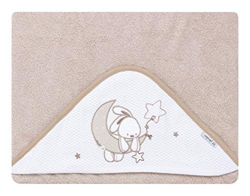 pirulos 00713110–maxicapa, Design Mond, 100x 100cm, weiß/Leinen