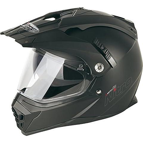 187218M02 - Nitro MX660 Uno DVS Dual Sport Helmet M Satin Black (02)