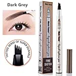Microblading Tattoo Eyebrow Pen,Elisabeh Waterproof Ink Gel Tint Drawing Eyebrow Pencil with Four Tips,Creates Long...