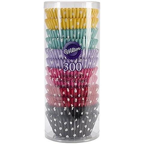 Wilton Standard Backen cups-polka Punkte 300/Pkg, anderen, mehrfarbig