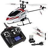 Helicóptero teledirigido V911 4 canales 2.4G solo propulsor juguetes blanco rojo
