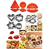 Kruvad 12 Pieces Cookie Cutter Stainless Steel Cookie Cutter with Different Shape with Dough Press Dumpling Samosa Modak Gujiya Pie Mould Maker - Set of 3 (Combo) 1 Set