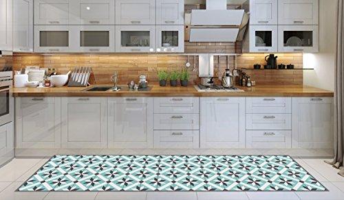 Alfombra de cocina, lavable en lavadora, alfombra cocina,52cm x 240cm, antiácaros, antideslizante, alfombra de cocina diseño alveolar,100% made in Italy,alfombra de cocina diseño de impresión digital