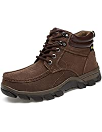 Invierno Hombres Botas De Montaña Botas Altas Calor Zapatos Para Exteriores Antideslizantes Calzado De Caballero