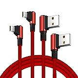 Zrse Micro USB Kabel 1m [2-Pack, ] 2.4A High Speed Sync und Ladekabel für Android Smartphones, Samsung Galaxy, HTC, Huawei, Sony, Nexus, Nokia, Kindle und mehr - Rot