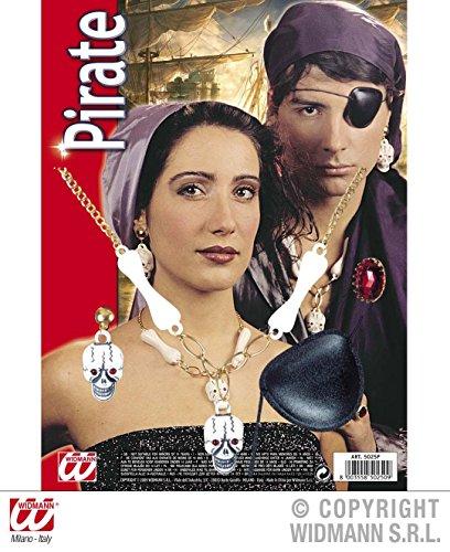 4 - teiliges SCHMUCK SET - PIRAT -, Seeräuber Karibik (Piraten Schmuck Kostüm)