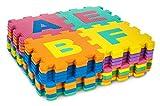 Großes Schaumstoff-Puzzle für Kinder mit Buchstaben und Zahlen, 40 Teile