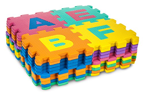 New 36PC Foam Mat apprendimento alfabeto bambini tappeto gioco puzzle numeri