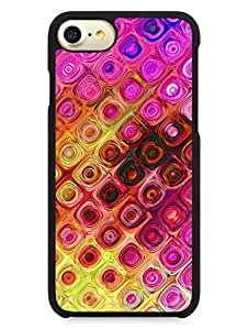 iPhone 7 Case - Colorful Pastel Tiles - Abstract - Pattern - Designer Printed Hard Cases with Premium Rubberized Edges
