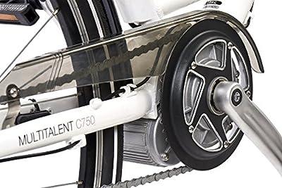 Telefunken Multitalent C750 Citybike Pedelec 28 Zoll E-Bike (Alu City Wave Rahmen, 7 Gang Shimano Nabenschaltung, Mittelmotor, V Bremse, Suntour Federgabel) weiß