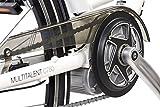 Telefunken E-Bike Damen, Elektrofahrrad 250W und 10Ah, 36V Lithium-Ionen-Akku, Shimano Nabenschaltung - Pedelec Citybike leicht, Alu in Weiß, 7 Gang, Reifengröße: 28 Zoll -