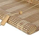 """PMTX-Bamboo curtain Tapparelle in bambù - Tende da Sole in Legno Leggero, Tende avvolgibili per finestre e Porte, 20 Misure opzionali (Size : 130x250cm(51.1""""x98.4""""))"""