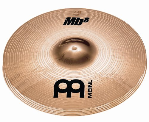 Meinl Cymbals MB8-14MH-B MB8 Serie 35,6 cm (14 Zoll) Medium Hihat Becken Paar Brilliant