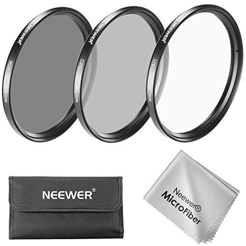 Neewer 40.5mm Objektiv Filter Set: UV-Filter + CPL Filter + ND4 Filter + Filterbeutel + Reinigungstuch für Sony A6000, NEX Serie Kameras mit 16-50mm Objektiv sowie Samsung NX300 mit 20-50mm Objektiv