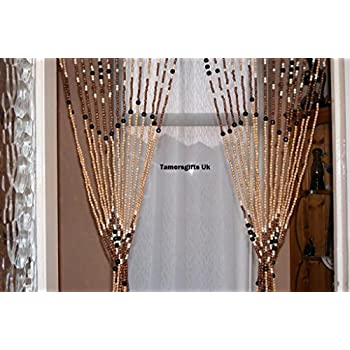 Wooden Bead Door Curtain Amazon Co Uk Kitchen Amp Home
